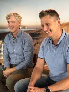 Storytelling trainers Kees-Jan en Ricardo in de luistermodus